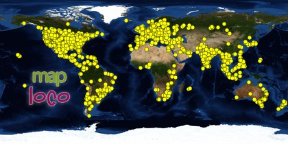 Global Map of Visitors to Potted Plant Society from 25 August 2012 to End of 2012